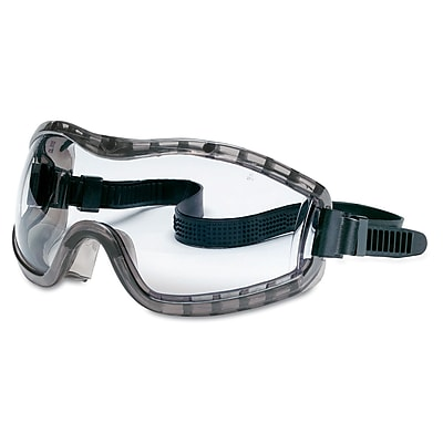 Crews Stylish Goggle with Smoke Frame Clear Anti-Fog Lens