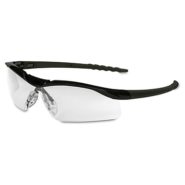 Crews DALLAS Wraparound Safety Glasses Clear/Black
