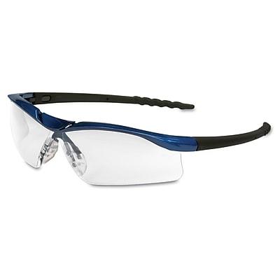 Crews DALLAS Wraparound Safety Glasses Blue Metallic/Clear