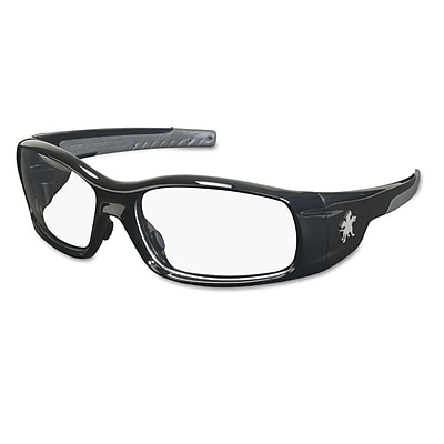 Crews Swagger Brash Look Polycarbonate Dual Lens Glasses Safety Glasses Black / Clear