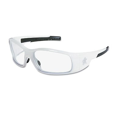 Crews Swagger Brash Look Polycarbonate Dual Lens Glasses Safety Glasses White / Clear