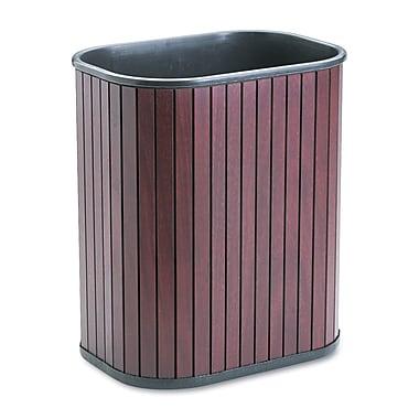 Advantus 3.25 gal. Hardwood Trash Can without Lid, Mahogany