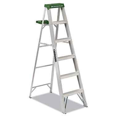 Louisville Folding Aluminum Step Ladder 6 Foot