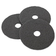 "3M Black Stripper Floor Pads 7200, 17"", Black (08379)"