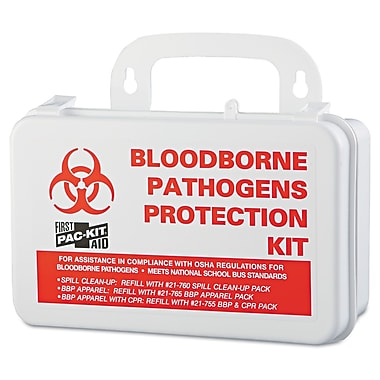 Pac-Kit Blood borne Pathogens Protection, Plastic Kit