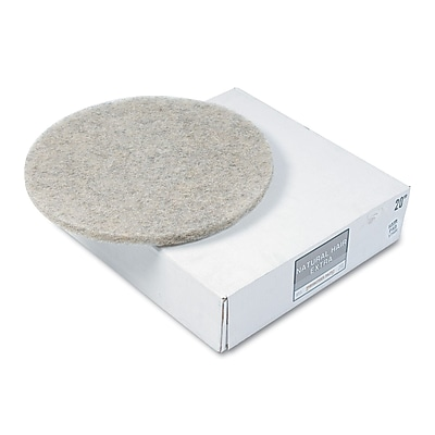 """""Premiere Pads 20"""""""" Ultra High-Speed Hair Extra Floor Pad, Natural"""""" 169108"