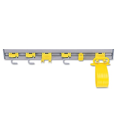 """""Rubbermaid Commercial Closet Organizer/Tool Holder, 34"""""""" Width Gray"""""" RCP199300GY"