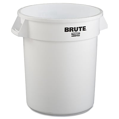 Rubbermaid® Commercial Brute® Container Without Lid, White, 20 gal