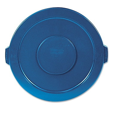 Rubbermaid® Commercial Flat Top Round Trash Container Lid, Blue