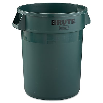 Rubbermaid® Commercial Brute® Container Without Lid, Dark Green, 32 gal