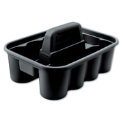 "Rubbermaid Commercial 1.32"" H x 0.95"" W x 1.29"" D Plastic Caddy Bags Black"
