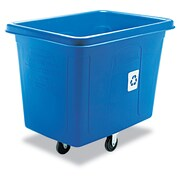 Rubbermaid Commercial Recycling Cube Truck Blue
