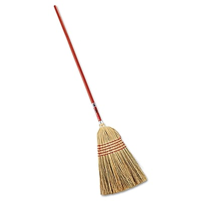 """Rubbermaid Commercial Standard Corn-Fill Broom 38"""" Handle Red"""