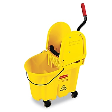 Rubbermaid Commercial WaveBrake Mopping Combo Pack, 7570 Mop Bucket, 7575 Wringer Yellow