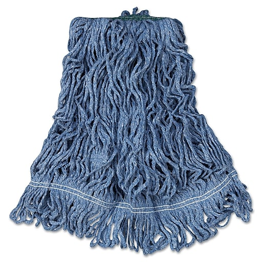 Rubbermaid Super Stitch Medium Mop Head, Tailband, 6/Carton (FGD21206BL00)