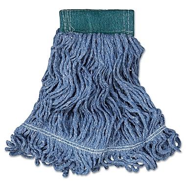 Rubbermaid Commercial Super Stitch Blend Mop Heads Cotton/Synthetic Blue Medium Blue
