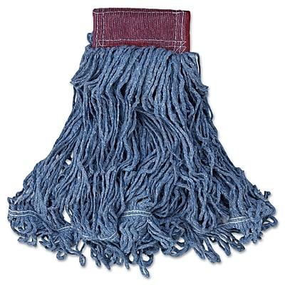 Rubbermaid Commercial Super Stitch Blend Mop Heads, Cotton/Synthetic Blue