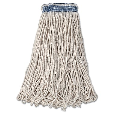 Rubbermaid Commercial Universal Headband Mop Heads, Cotton White