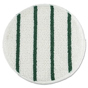 "Rubbermaid® Commercial Low Profile Scrub-Strip Carpet Bonnets, 19"" Diameter, White/Green, 5/Pack (RCP P269)"