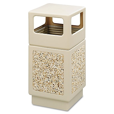 Safco® Canmeleon™ 9472TN Side Opening Square Aggregate Panel, Tan, 38 gal.