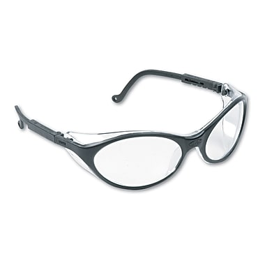 Sperian Bandit™ Safety Spectacle, Polycarbonate, Adjustable Temples & Wrap Around, Clear, Black