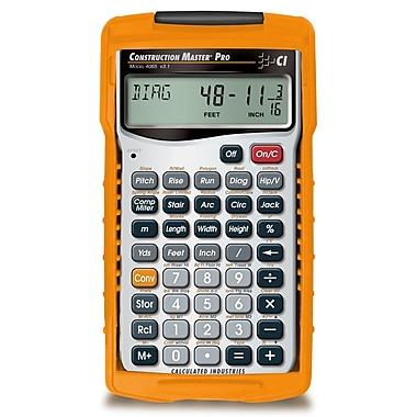 Calculated Industries - Calculatrice à main Construction Master® Pro 4065