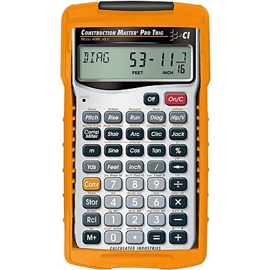 Calculated Industries - Calculatrice à main trigonométrique Construction Master® Pro 4080