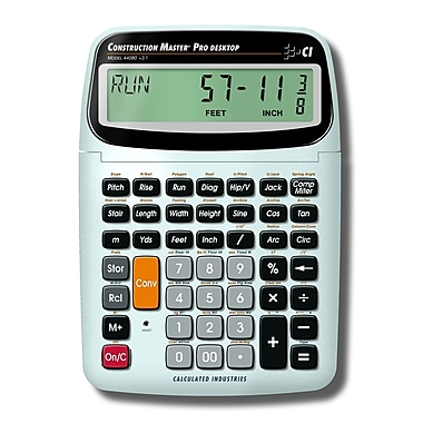 Calculated Industries - Calculatrice de table trigonométrique Construction Master® Pro 44080