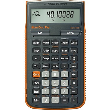 Calculated Industries - Calculatrice de construction métrique HeavyCalc™ Pro 4325