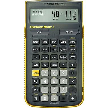 Calculated Industries - Calculatrice à main Construction Master® 5 Canadian 4056
