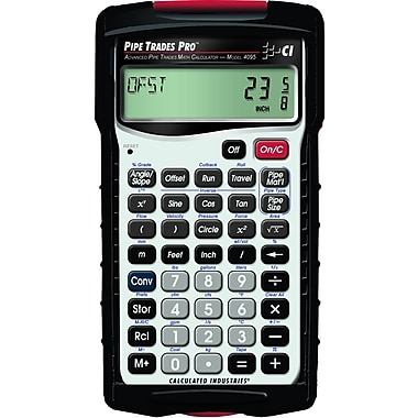 Calculated Industries - Calculatrice pour plombier Pipe Trades Pro™ 4095