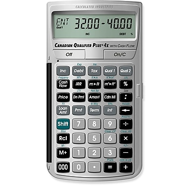 Calculated Industries - Calculatrice pour immobilier Canadian Qualifier Plus® 4x 3423
