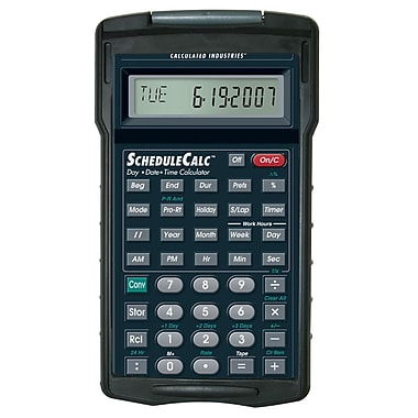Calculated Industries - Calculatrice à calendrier ScheduleCalc™ 9430