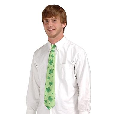 Beistle – Cravate aux motifs de trèfles, pleine taille, paquet de 4