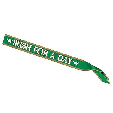 Beistle – Écharpe satinée « Irish For A Day », 33 x 4 po, paquet de 3