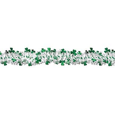 Beistle – Guirlande de trèfles métallisée et ininflammable, 12 pi, paquet de 3