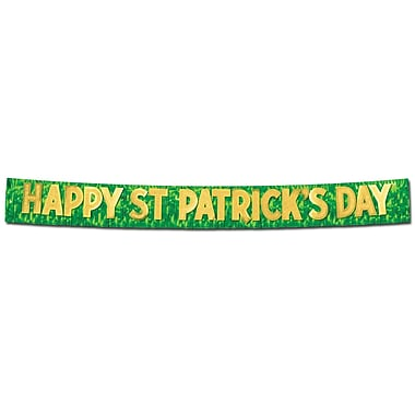 Beistle Metallic Happy St Patrick's Day Banner, 10