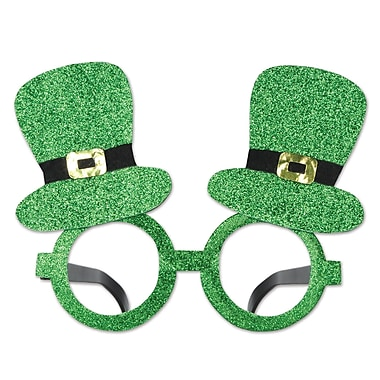 Beistle Glittered Leprechaun Hat Glasses, 2/Pack
