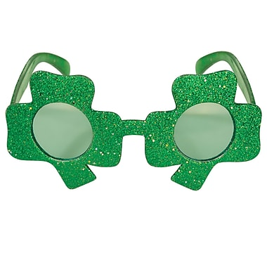 Beistle Glittered Shamrock Fanci-Frames, Green, 3/Pack