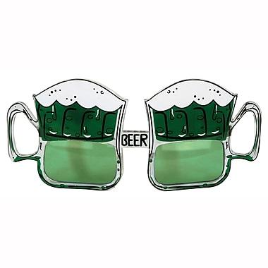 Beistle – Lunettes fantaisie en forme de chopes à bière Saint-Patrick, paquet de 2