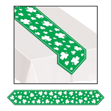 Beistle Printed Shamrock Table Runner, 11