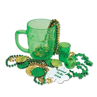 Beistle St Pats Party In A Mug Game Set, Green, 16/Pack