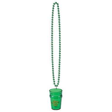 Beistle Green Beads With St Pat's Glass, 33