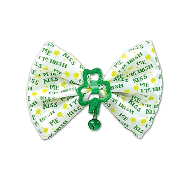 Beistle Kiss Me I'm Irish Bow Tie, 3 1/4