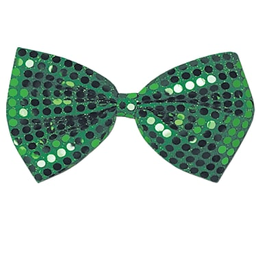 Beistle Green Glitz 'N Gleam Bow Tie, 4 1/4