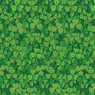 Beistle 4' x 30' Clover Field Backdrop