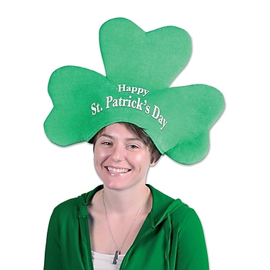 Beistle Plush St Patrick's Day Shamrock Hat, 2/Pack