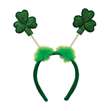 Beistle Glittered Shamrock Boppers, 3/Pack