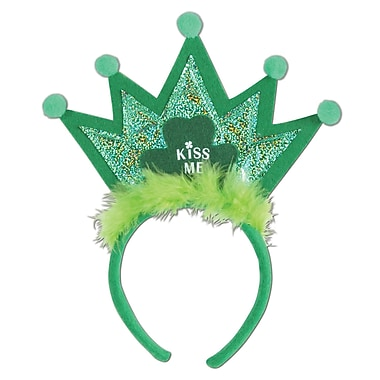 Beistle Shamrock Tiara Headband, 3/Pack