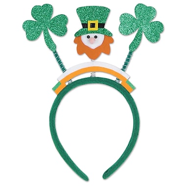 Beistle Glittered Shamrock Boppers With Leprechaun, 3/Pack